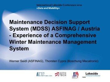 (MDSS) ASFiNAG / Austria - Lakeside Conference