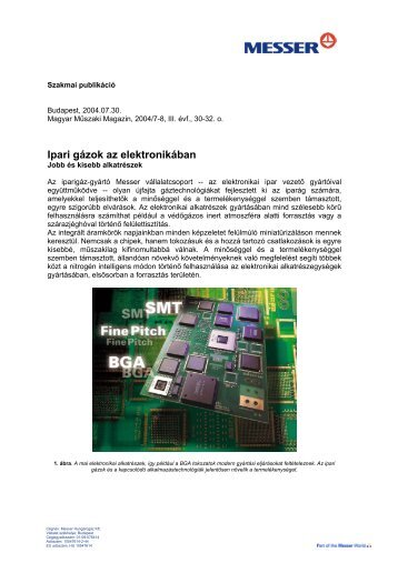 Ipari gázok az elektronikában - Messer