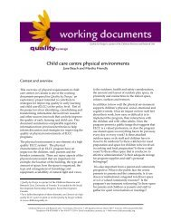 Child care centre physical environments - Early learning and child ...