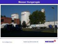 Ipari gázok alkalmazásának biztonsági kérdései a ... - Messer