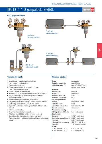 Spectrotec BU13 gázpalack lefejtők ipari gázokhoz - Messer