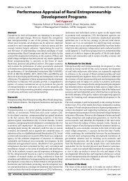 Performance Appraisal of Rural Entrepreneurship ... - Ijmbs.com