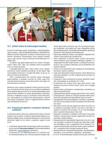 10.1 Gázok helyes és biztonságos kezelése - Messer