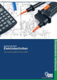 Elektrotechniker an der GBS Technikerschule München