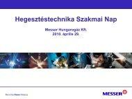 Védőgázok hatása a hegesztéstechnológiára - Messer