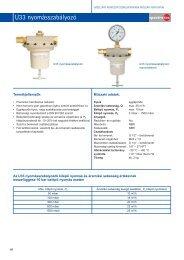 Spectrotec U33 nyomásszabályozó - Messer