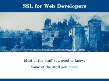 SSL for web developers