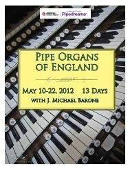 Pipe Organs of England - Pipedreams - American Public Media