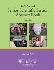 Senior Scientific Session Abstract Book - Pritzker School of Medicine