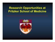 Research Opportunities at Pritzker School of Medicine