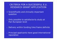 criteria for a successful eu research grant application - Pancare