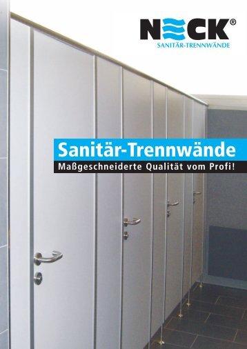 ECK prsp WC-Trennw‰nde - NECK Duschen