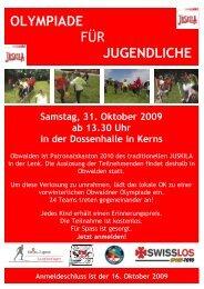 Ausschreibung - Swiss Jugend Langlauflager