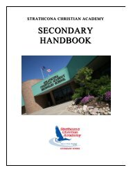 SEC Handbook.pdf - Strathcona Christian Academy Secondary