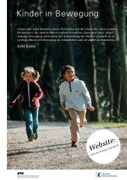 Kinder in Bewegung - Wir bewegen Zürich