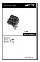 TC10 Owner's Manual Xantrex Truecharge 10 Battery Charger