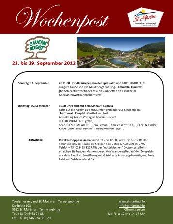 22. bis 29. September 2012 - St. Martin