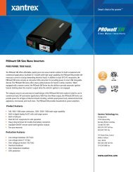 Freedom SW 3000 Sine Wave Inverter/Charger - Xantrex on