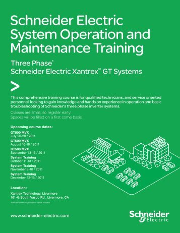 Schneider Electric System Operation and Maintenance ... - Xantrex