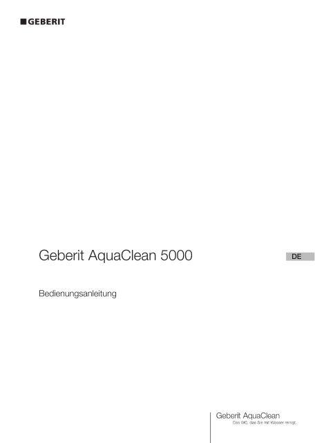 Bedienungsanleitung Geberit AquaClean 5000