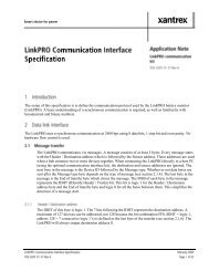 Communication Interface Specifications - Xantrex