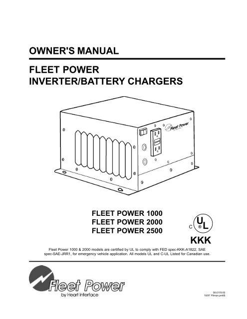 owner's manual fleet power inverter/battery chargers kkk ul ... on whistler 2000 watt inverter, magnum 2000 watt inverter, combi 2000 watt inverter, freedom jazz 500 watt inverter, xantrex inverter charger 2000, aims 2000 watt power inverter, go power 2000 watt inverter,