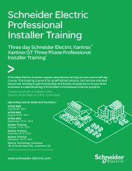 Schneider Electric Professional Installer Training - Xantrex