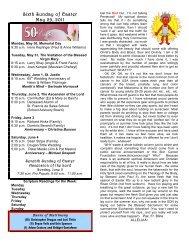 Sixth Sunday of Easter May 29, 2011 - St. Francis de Sales Parish