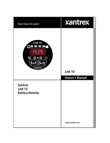 xar digital alternator regulator xantrex owner s manual link 10 xantrex link 10 battery monitor