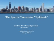 """The Sports Concussion """"Epidemic"""" - Oak Park and River Forest High ..."""