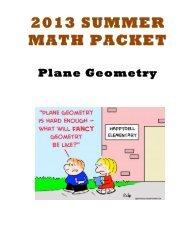 Plane Geometry 1-2