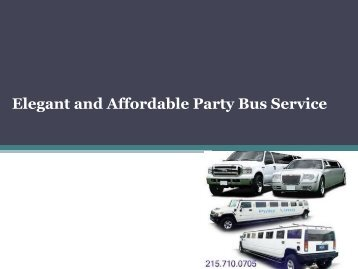 Elegant and Affordable Party Bus Service