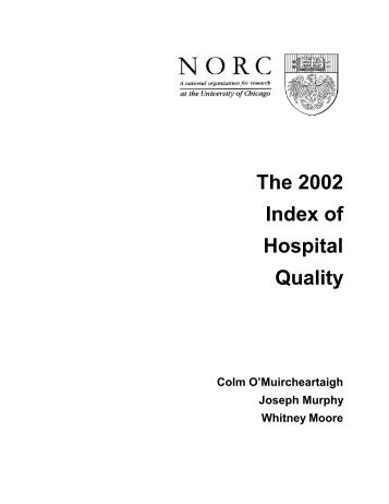 The 2002 Index of Hospital Quality