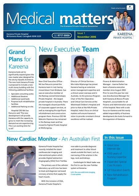 New Executive Team - Kareena Private Hospital
