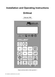 Installation and Operating Instructions Drillmat - Müller Elektronik