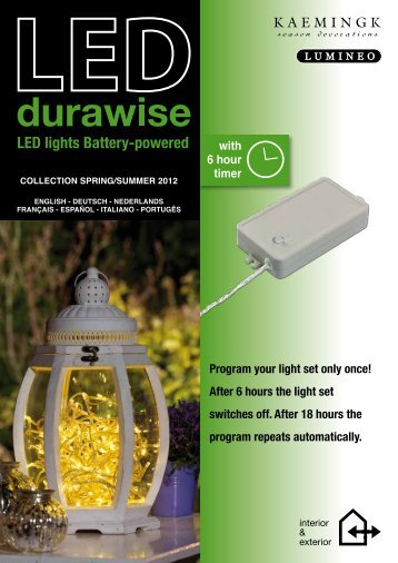 LED lights Battery-powered Program your light set only ... - Durawise