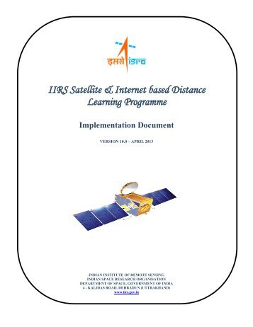 IIRS Satellite & Internet based Distance Learning Programme