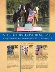 Sound HorSe ConferenCe 2010