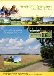 Urlaub auf dem Bauernhof - Ferienhof Friedrichsen