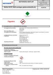 Aluline He70, He90 semleges gázkeverékek(He,Ar) - Messer