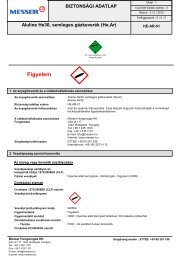 Aluline He30, semleges gázkeverék (He,Ar) - Messer