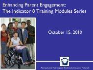 Indicator 8 Information: Parent Engagement