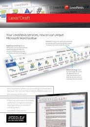 Download Factsheet (PDF, 387 KB) - LexisNexis