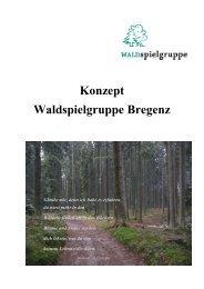 Konzept Waldspielgruppe Bregenz - Verein Tagesbetreuung