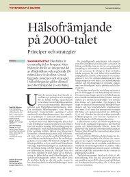 Hälsofrämjande på 2000-talet - Tandläkartidningen