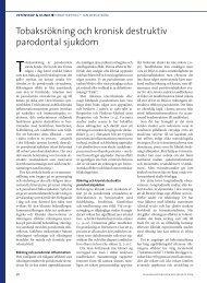 Tobaksrökning och kronisk destruktiv parodontal sjukdom