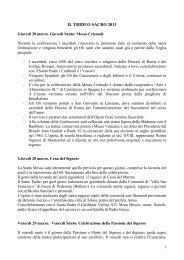 la settimana santa - Pontificio Consiglio delle Comunicazioni Sociali