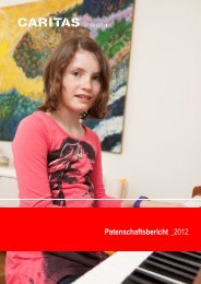 Patenschaftsbericht _2012 - Caritas Thurgau
