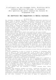 A colloquio con don Giuseppe Costa