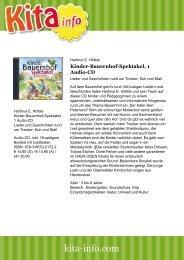 Kinder-Bauernhof-Spektakel, 1 Audio-CD - Kita Info